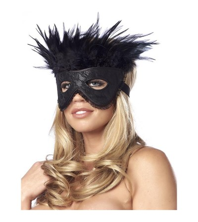 Mascara de Lujo con Plumas Negro