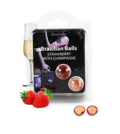 Secret Play Set 2 Brazilian Balls Aroma Fresas Cava