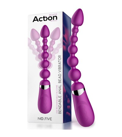 No Five Bolas Anales con Vibracion Flexible USB Silicona
