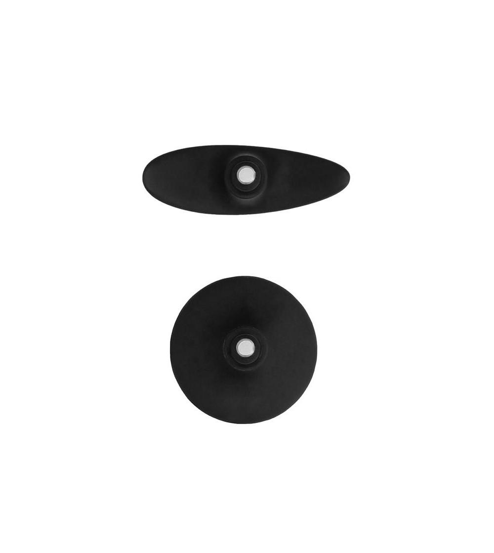 Set Plug Anal y Ventosa Redondeada Grande Negro