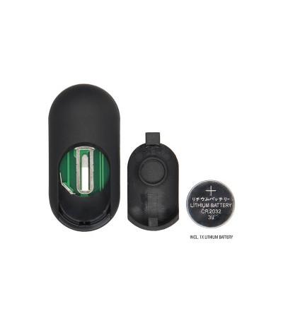 No 78 Estimulador Anal con Vibracion y Control Remoto Negro