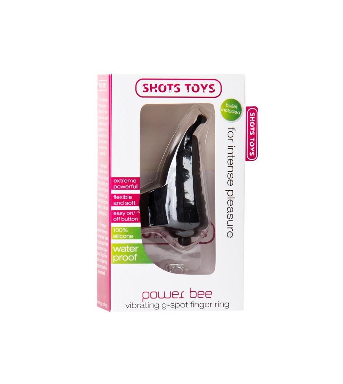 Shots Toys Power Bee Anillo para el Dedo Color Negro
