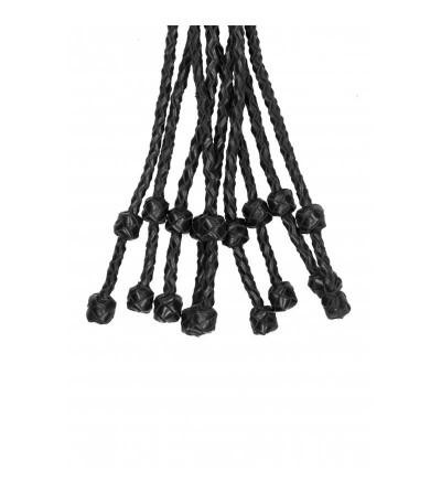 Flogger Trenzado Cuero Negro