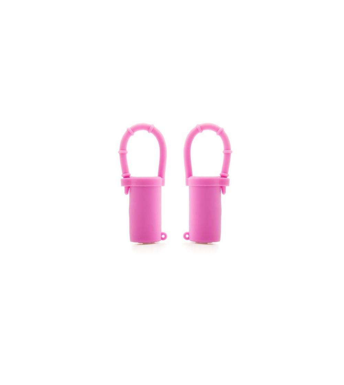 Shots Toys Pinzas para Pezones Vibratorias Rosa
