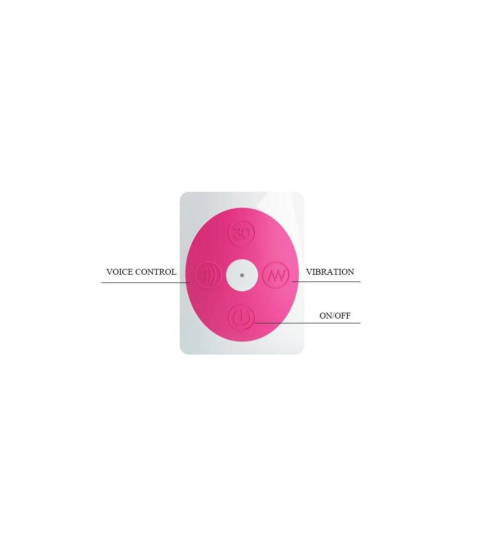 Vibrador Gene con Control por Voz Color Rosa