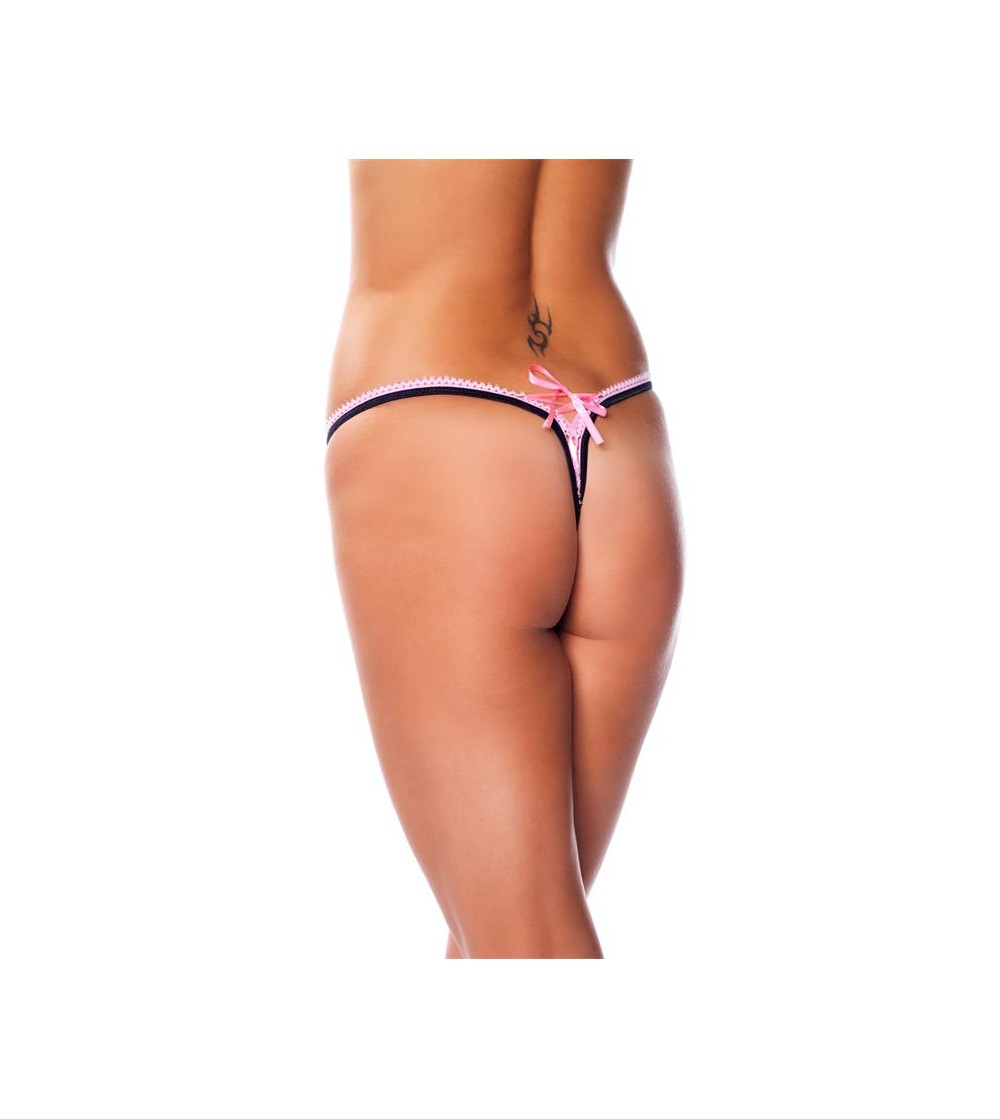 Rimba Amorable Tanga Color Negro y Rosa Talla unica