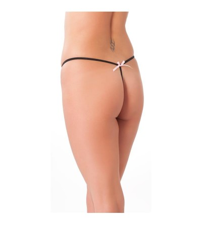 Rimba Amorable Tanga Abierto Color Negro Talla unica