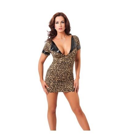 Rimba Amorable Mini Vestido Estampado de Leopardo Talla unica