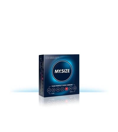 My Size Preservativos Natural de Latex Talla 60 Caja 3 Unidades