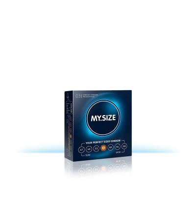 My Size Preservativos Naturales de Latex Talla 57 Caja de 3 Unidades