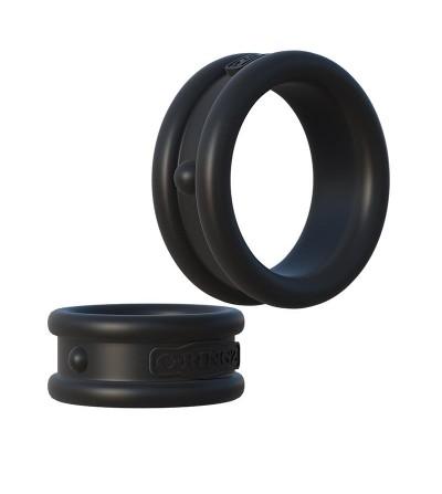 Fantasy C Ringz Max Width Silicone Rings Black
