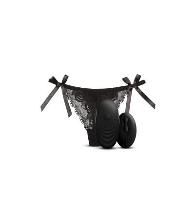 Tanga con Estimulador y Control Remoto No 3 Negro