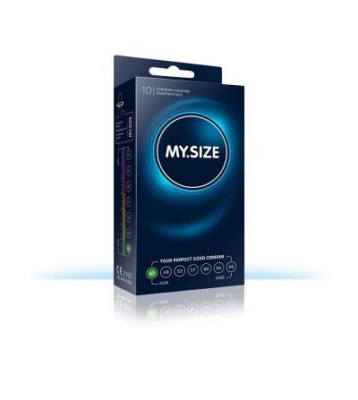 My Size Preservativos Naturales de Latex Talla 47 Caja de 10 Unidades