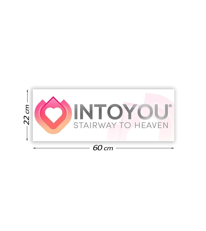 Cartel Promocional Intoyou 60 cm x 22 cm
