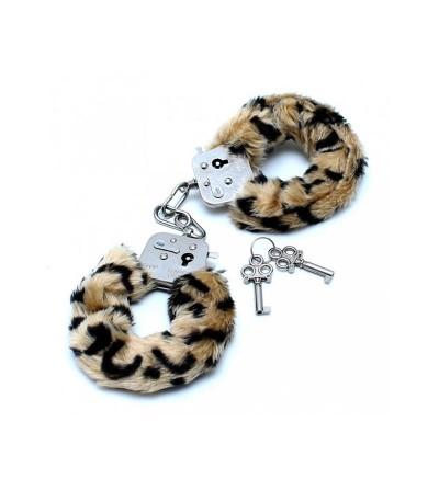 Esposas Metalicas con Pelo Leopardo