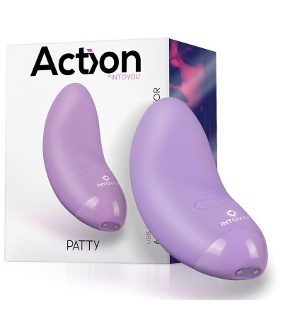 Patty Mini Masajeador Silicona USB Purpura