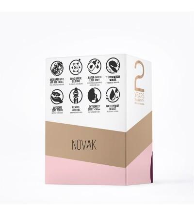 Novak Vibrador para Parejas Control Remoto USB Purpura