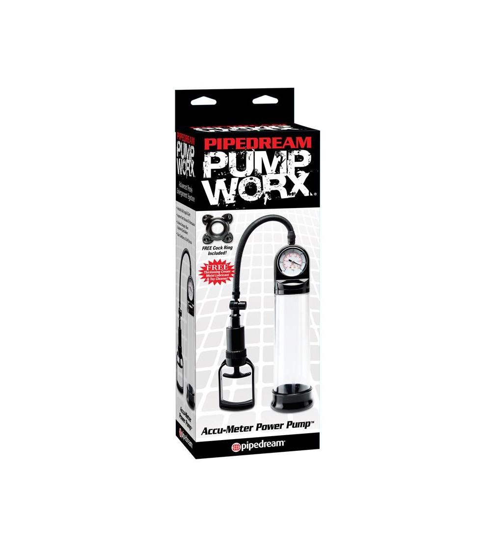 Pump Worx Succionador Accu Meter Color Negro