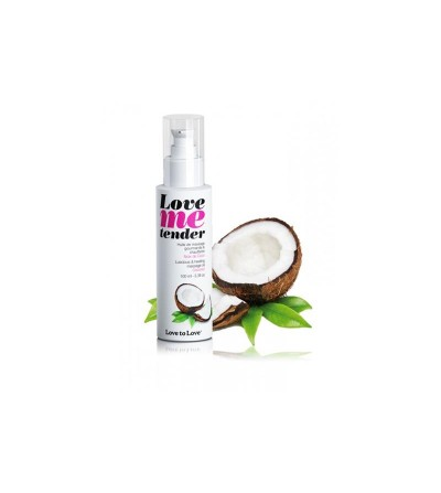 Aceite de Masage Efecto Calor Love Me Tender Aroma a Coco