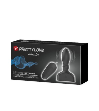 Estimulador Anal Harriet Inflable USB Silicone Negro