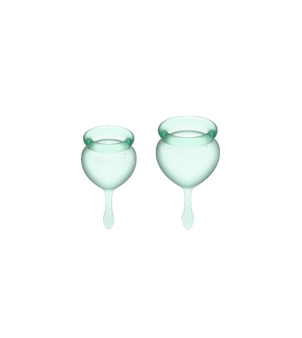 Copas Menstruales Feel Good Light Green Pack de 2