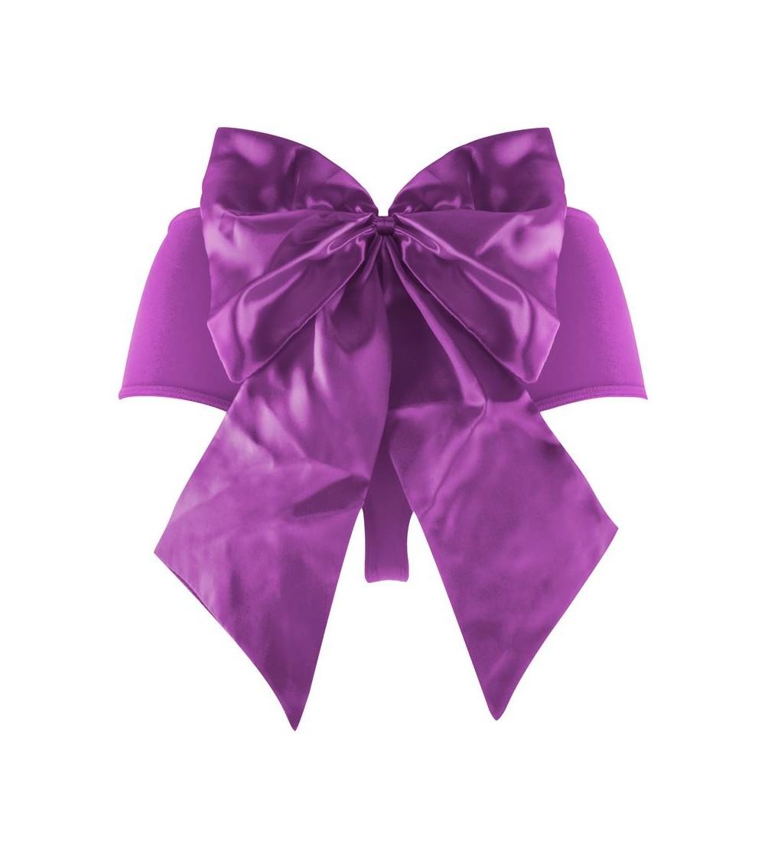 Shots Ouch Braguita con Bala Vibradora Sexy Bow Color Purpura