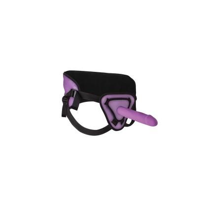 Shots Ouch Arnes con Dildo de Silicona 255 cm Purpura