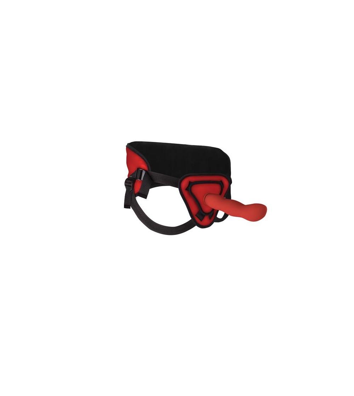 Shots Ouch Arnes con Dildo de Silicona 255 cm Color Rojo