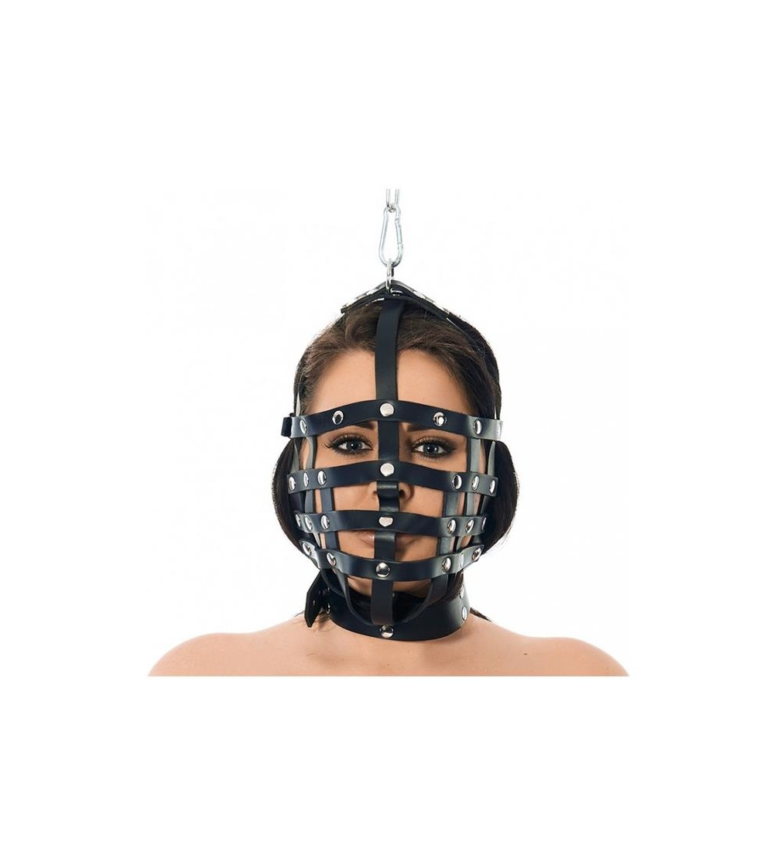 Mascara Cuero con Forma de Bozal Ajustable