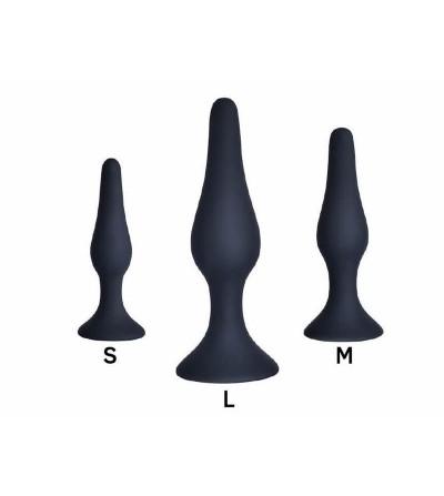 Pack de 3 Plug Anal Silicona Negro
