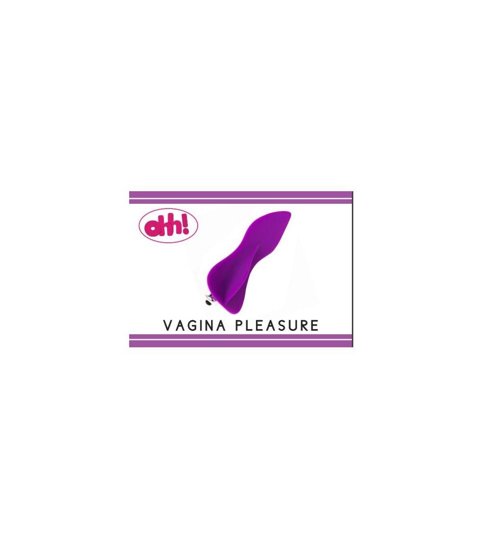 Estimulador Vagina Pleasure Purpura Silicona 12 cm
