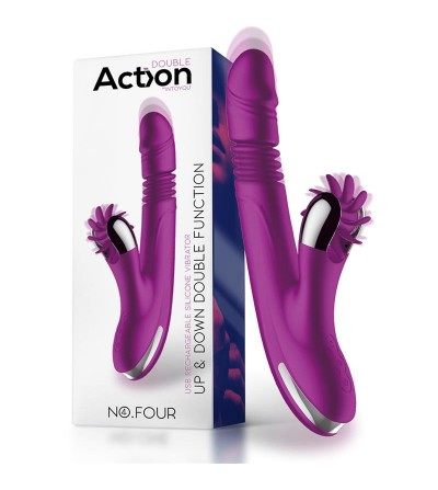 No Four Vibrador Up and Down y Rueda Estimuladora USB Silicona