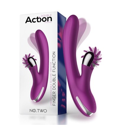 No Two Vibrador Movimiento Finger y Rueda Estimuladora USB Silicona