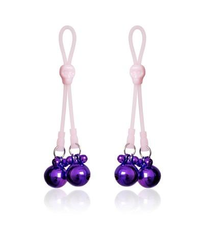 Pinzas para Pezones Calaberas y Cascabeles Rosa Purpura