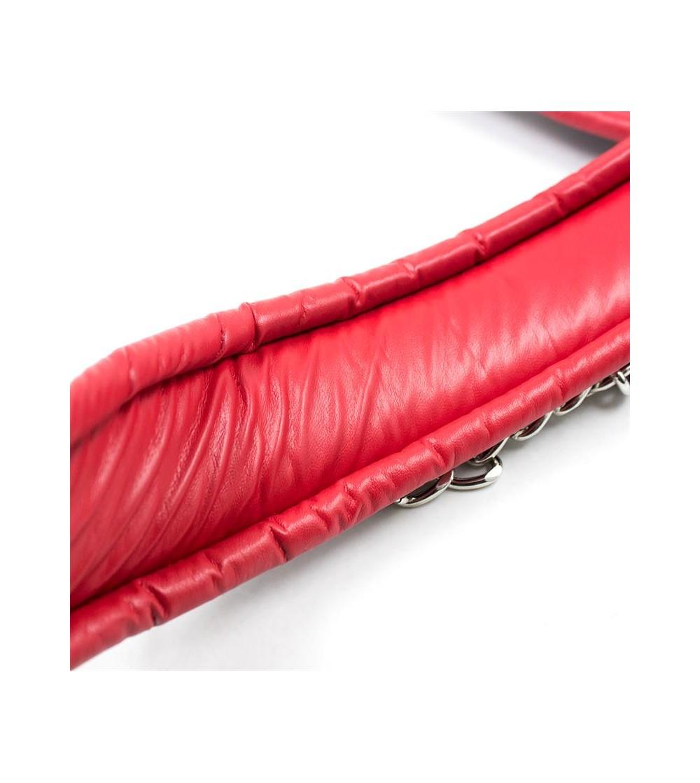 Collar con Correa Interior Acolchado Negro Rojo