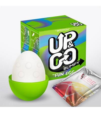 Bumpy Huevo Masturbador Elastico Silicona Verde