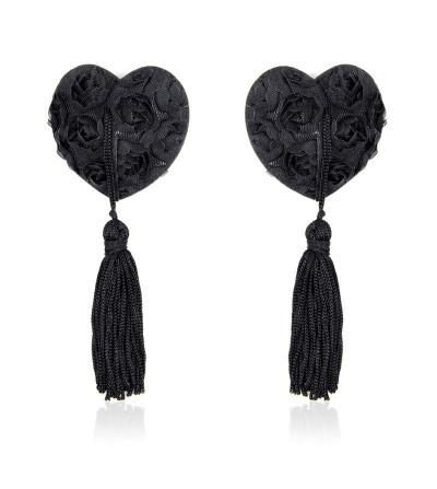 Pezoneras con Encaje y Patron Floral Negro