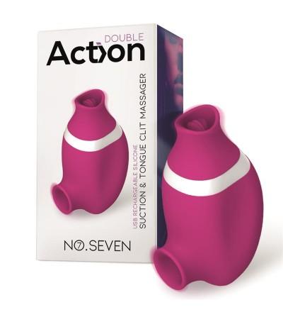 No Seven 2 en 1 Succionador de Clitoris y Lengua Estimuladora USB Silicona
