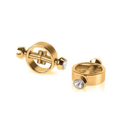 Fetish Fantasy Gold Pinzas para Pezones Magneticas Doradas