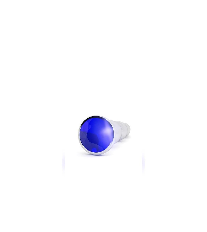 Shots Rich Plug Anal Purple Sapphire 12 cm Plateado