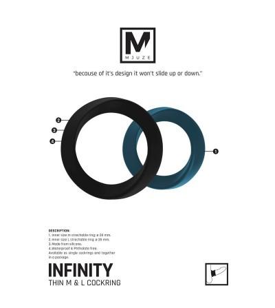 Shots Mjuze Infinity Anillo para el Pene L Negro