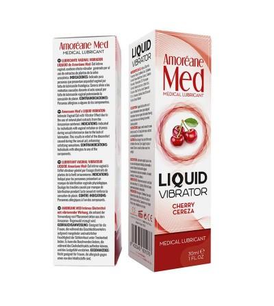 Vibrador Liquido Sabor Cereza 30 ml
