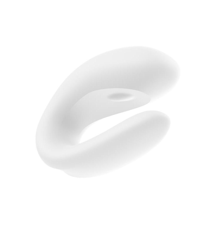 Vibrador para Parejas con APP Double Joy Blanco