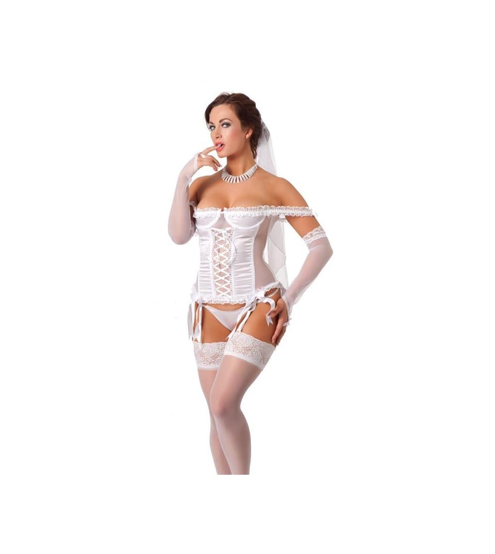 Rimba Amorable Disfraz de Novia Color Blanco