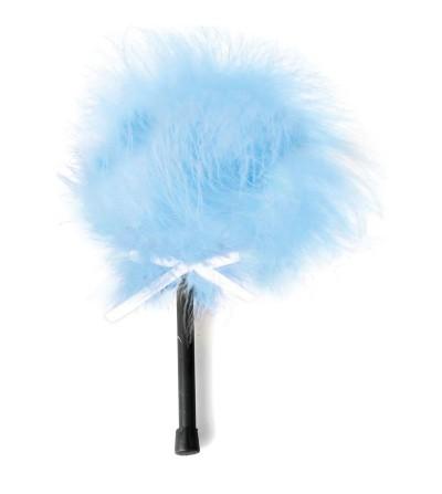 Plumero con Marabu Azul