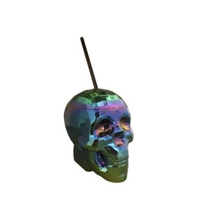 Taza Skull Cup Oil Slick