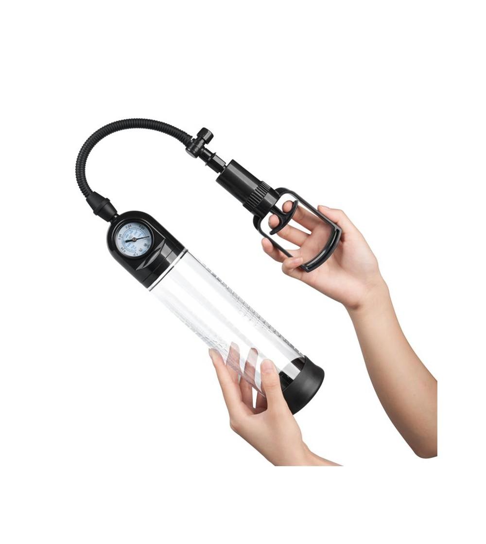Bomba Manual con Medidor para el Pene PSX03 Transparente