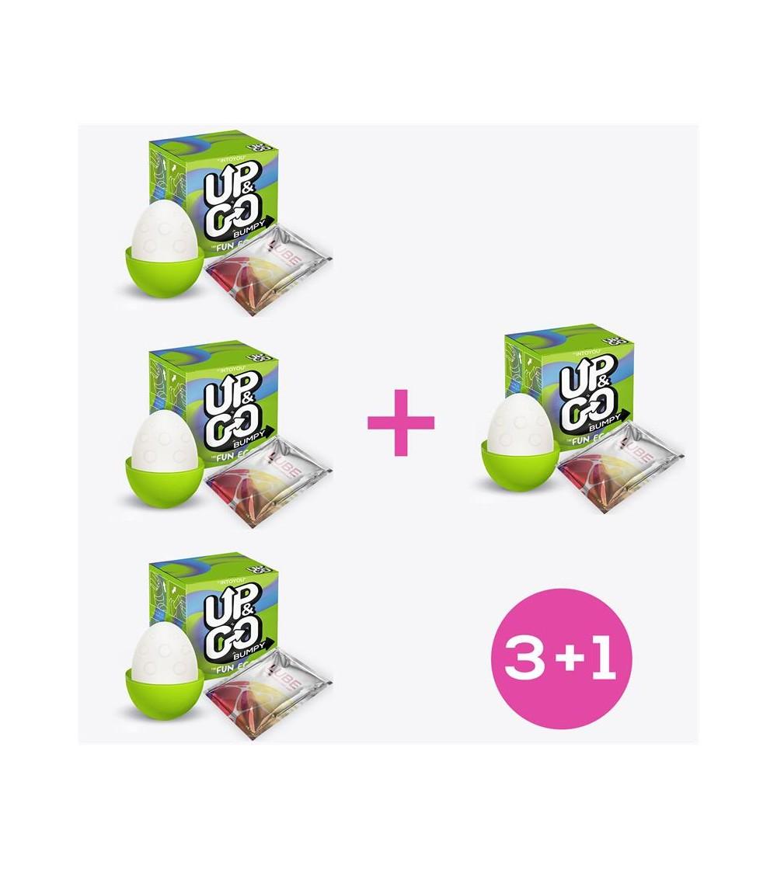 Pack 31 Bumpy Huevo Masturbador Elastico Silicona Verde