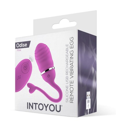 Huevo Vibrador Control Remoto Odise USB Silicona Rosa