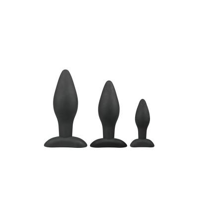 Set 3 Plugs Silicona Negro